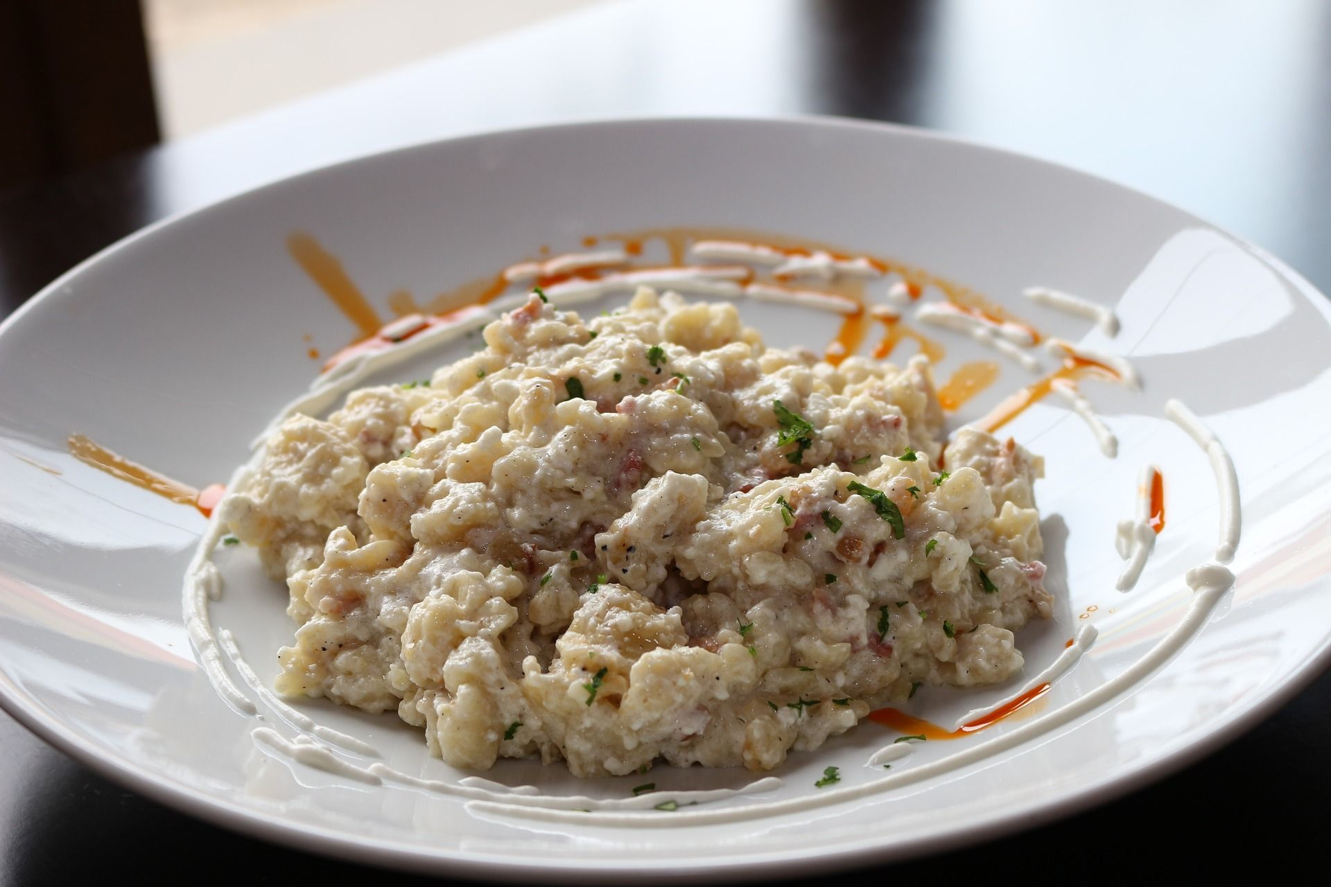 Plate of cottage cheese